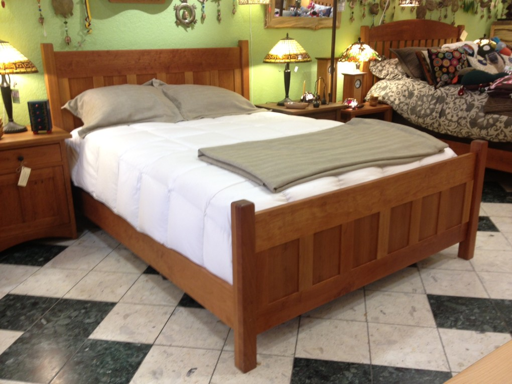 "Cherry ""Craftsman"" Queen Bed"