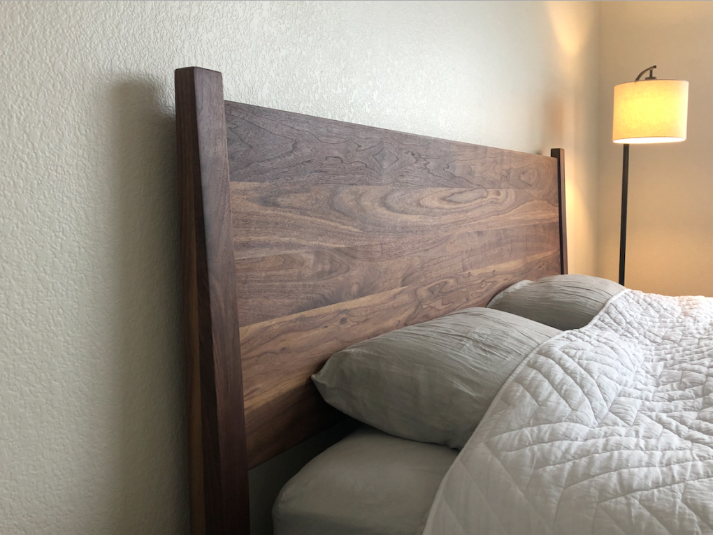 "Solid Walnut ""Flatiron"" King Bed"