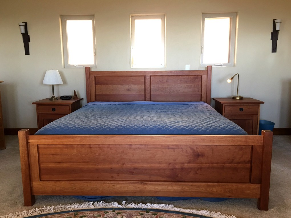 "Solid Cherry ""Raised Panel"" King Bed"