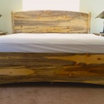 Beetlekill Blue Pine Solid Arch Queen Bed