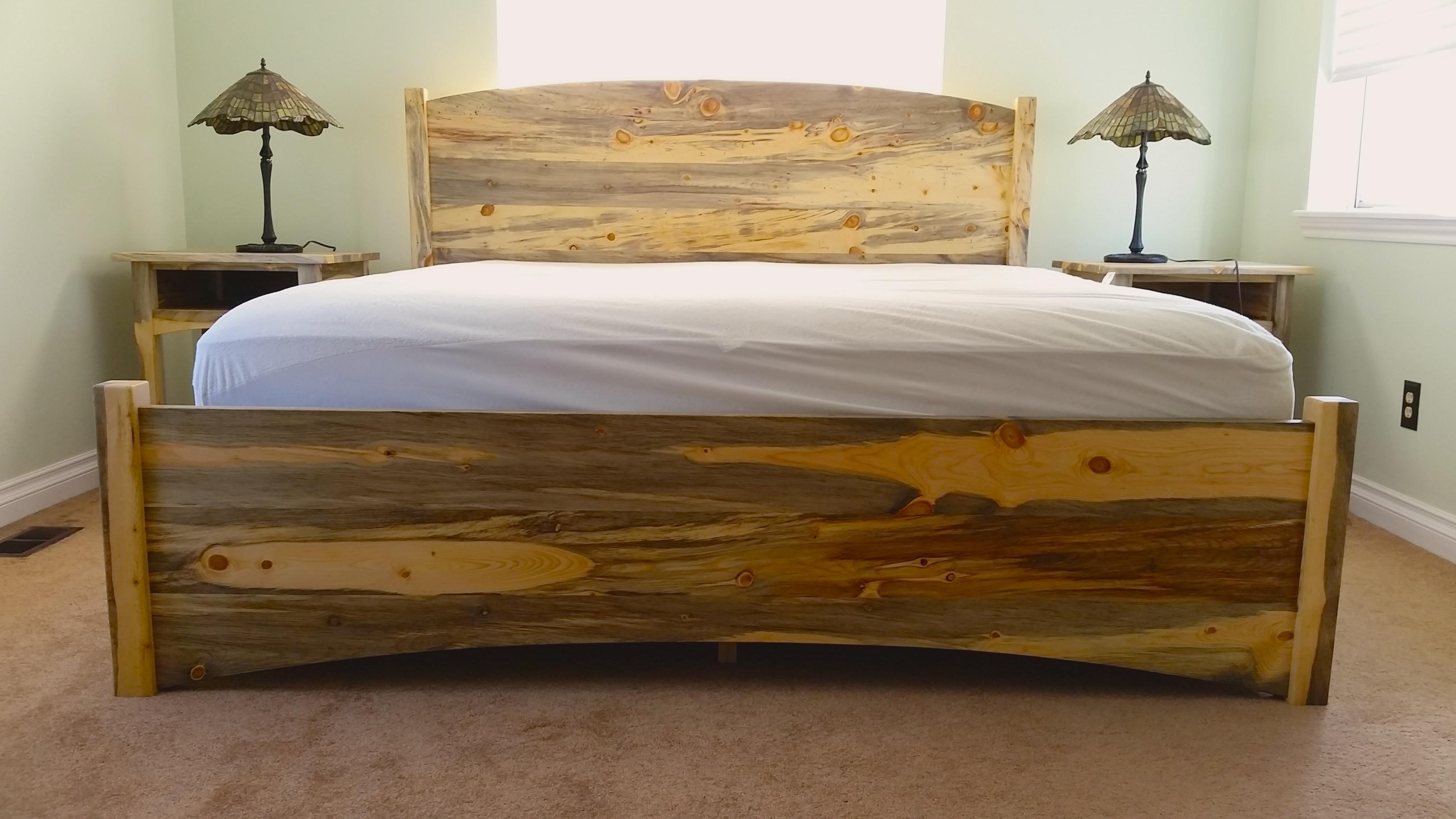 denver colorado industrial furniture modern king. Beetlekill Blue Pine \ Denver Colorado Industrial Furniture Modern King