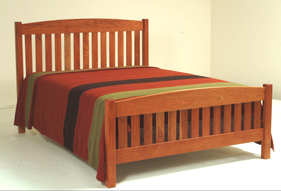 "Solid Cherry ""Slat Arch"" Queen Bed"