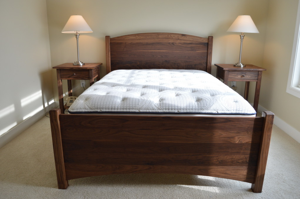 "Solid Walnut ""Solid Arch"" Queen Bed"