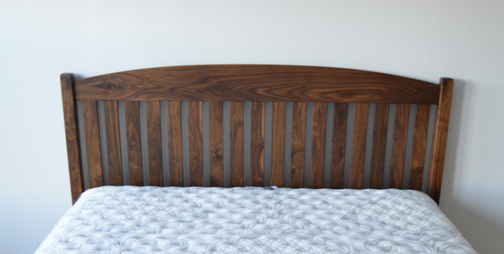 "Solid Walnut ""Slat Arch"" King Bed"