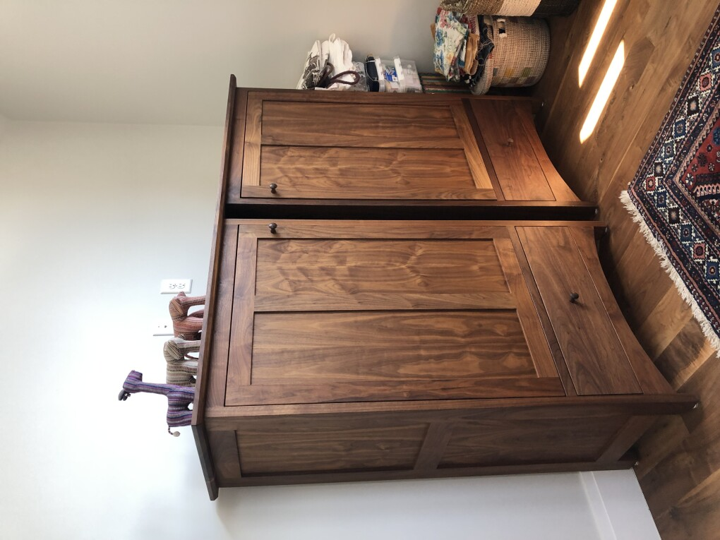 "Walnut ""Prairie"" Two-Piece Cabinet"