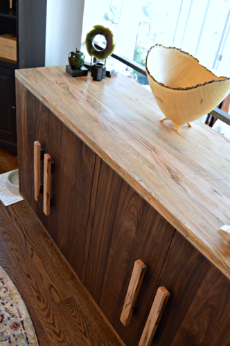 "Solid Walnut & Spalted Ambrosia Maple ""Flatiron"" Sideboard"