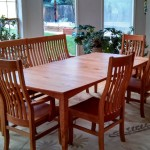 """Solid Cherry """"Prairie"""" Boat-Shape Table"""