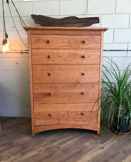 "Cherry ""Prairie"" 6-Drawer Tall Dresser"