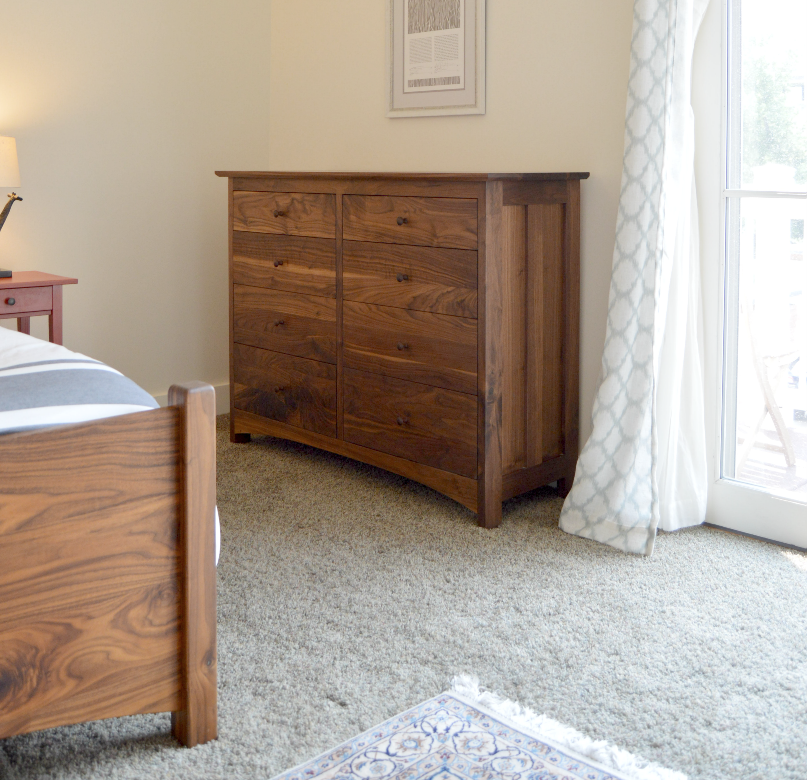 "Walnut ""Prairie"" 8-Drawer Dresser"