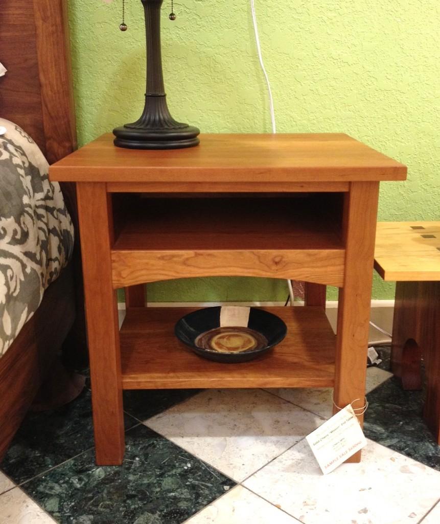 """Cherry """"Prairie"""" Nightstand with Open Shelf"""