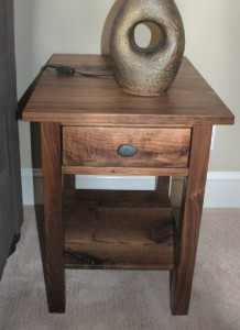 "Walnut ""Mission"" End Table"