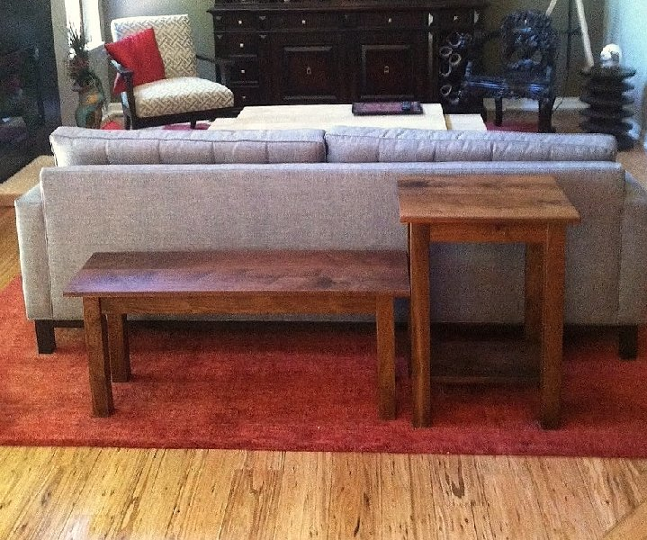 """Solid Walnut """"Mission"""" Occasional Tables"""