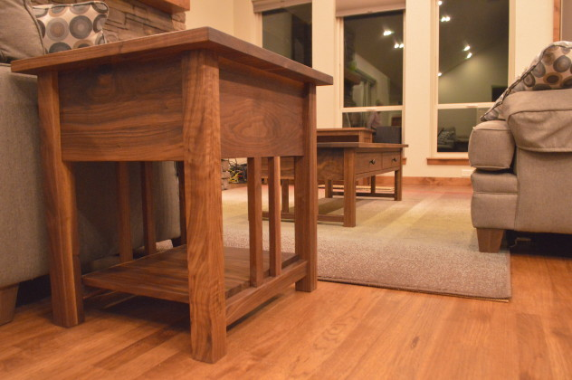 "Walnut ""Mission"" Occasional Tables"