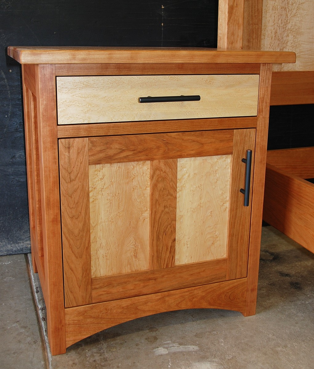 "Cherry ""Prairie"" End Cabinet with Maple Panels"