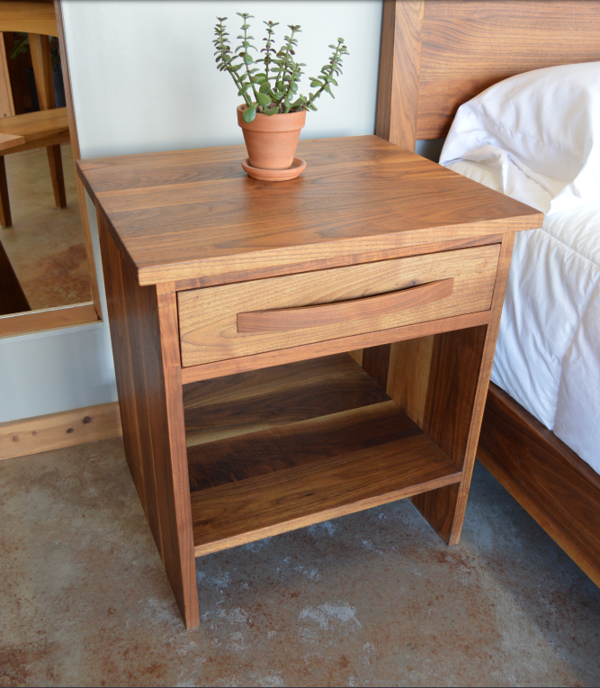 "Walnut ""Flatiron"" Nightstand"