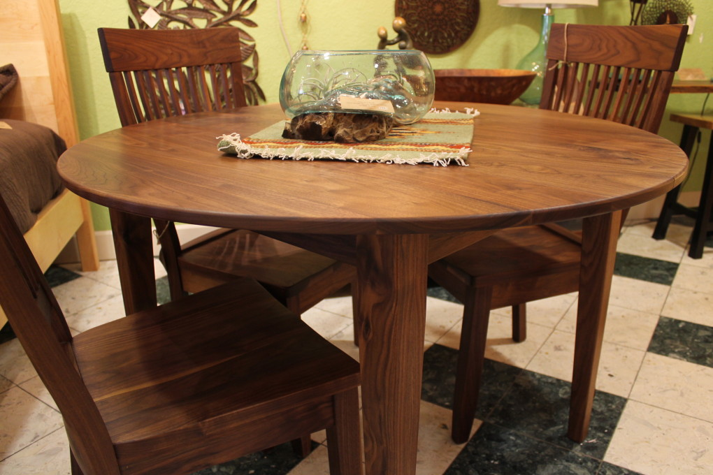 "Solid Walnut ""Shaker"" Round Table"