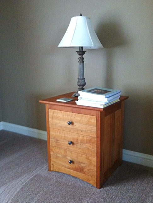 "Cherry ""Prairie"" 3-Drawer End Table"