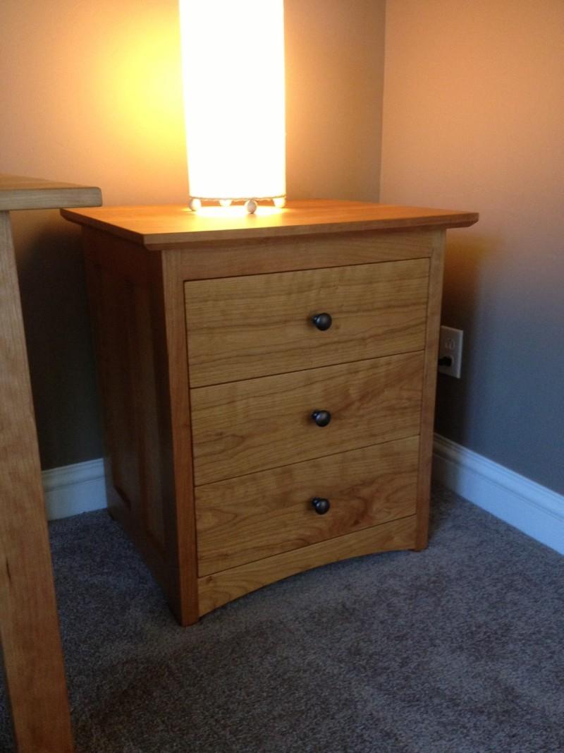 "Cherry ""Prairie"" 3-Drawer End Table"