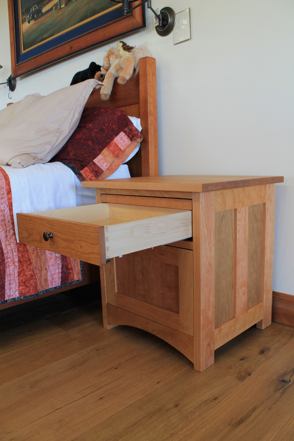 "Cherry ""Prairie"" Nightchest with Pullout Platform"