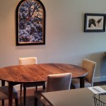 """Solid Walnut """"Prairie"""" Dining Table"""