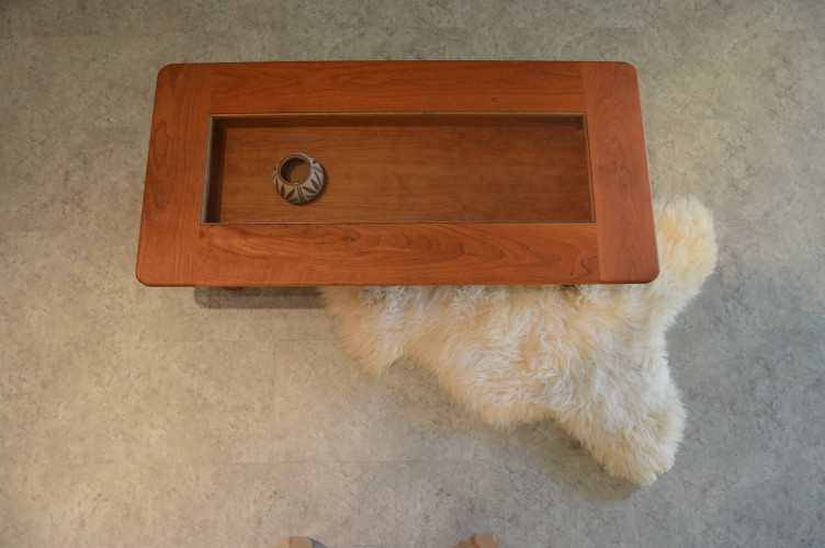"Solid Cherry ""Shadowbox"" Coffee Table"