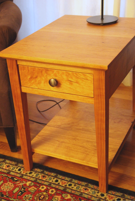 "Custom Cherry ""Prairie"" End Table"