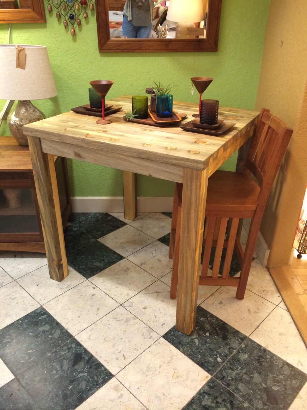 "Solid Beetlekill ""Mission"" Square Bistro Table"