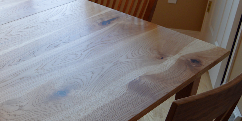 "Solid Hickory ""Prairie"" Table with Leaf"