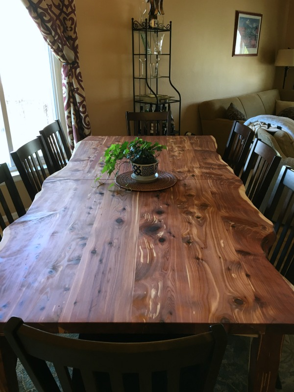 "Solid Red Cedar ""Mission"" Table"
