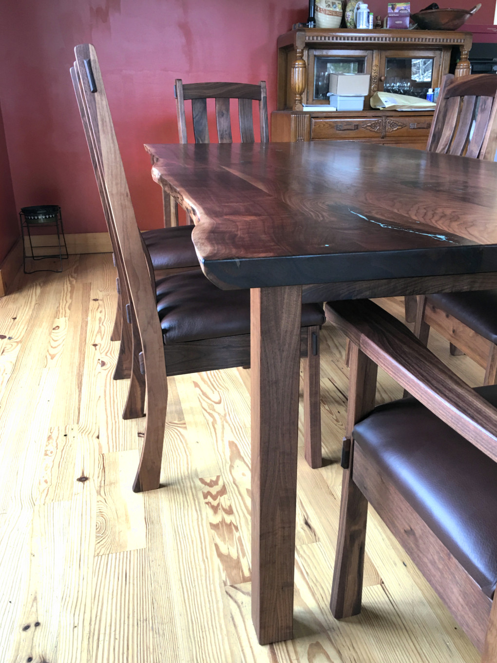 "Solid Walnut ""Mission"" LiveEdge Table"