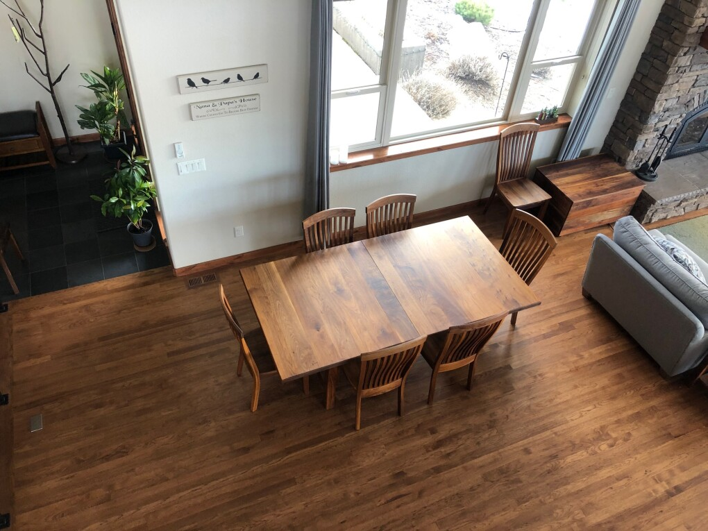 "Solid Walnut ""Mission"" Trestle Table"