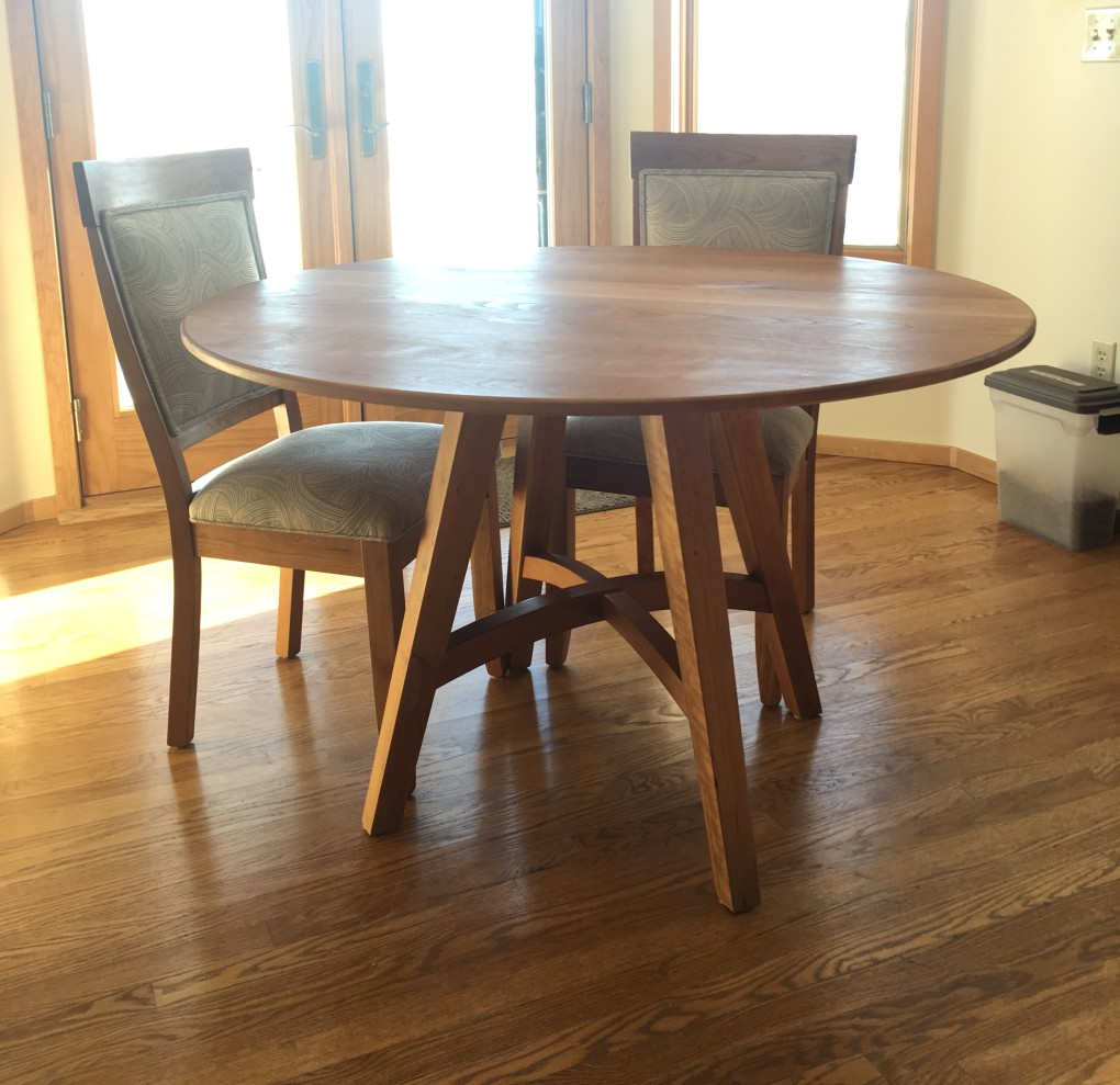 "Solid Cherry ""Prairie"" Pedestal Table"