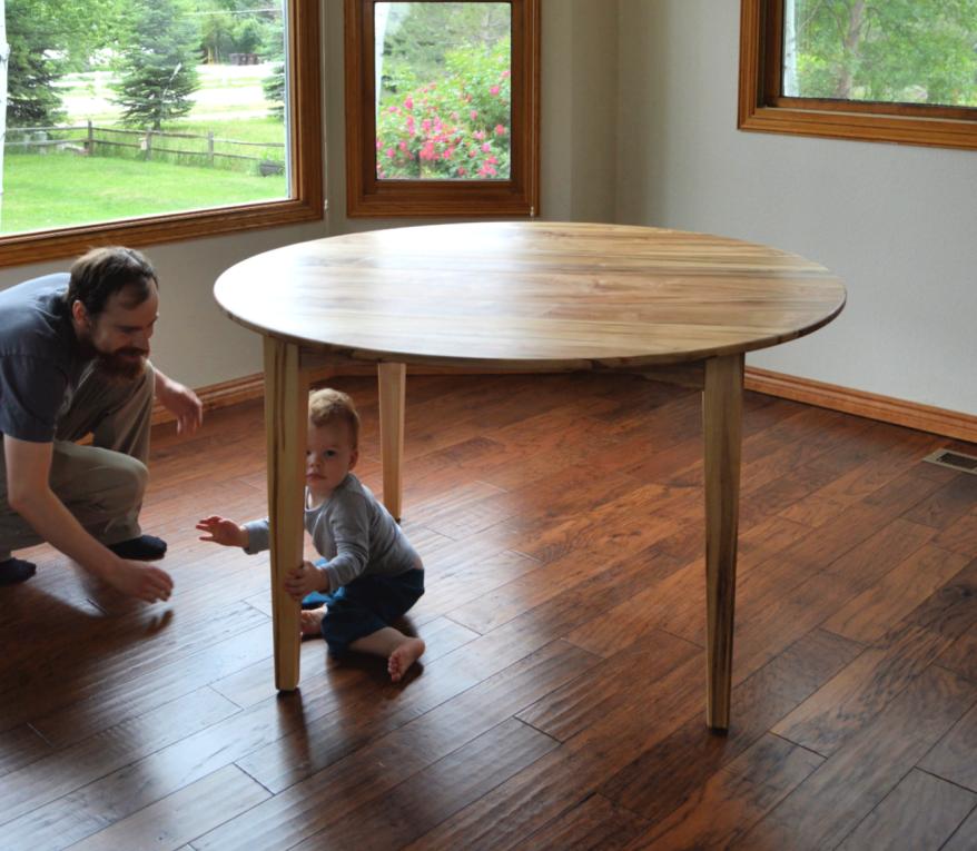 """Solid Ambrosia Maple """"Prairie"""" Round Table"""