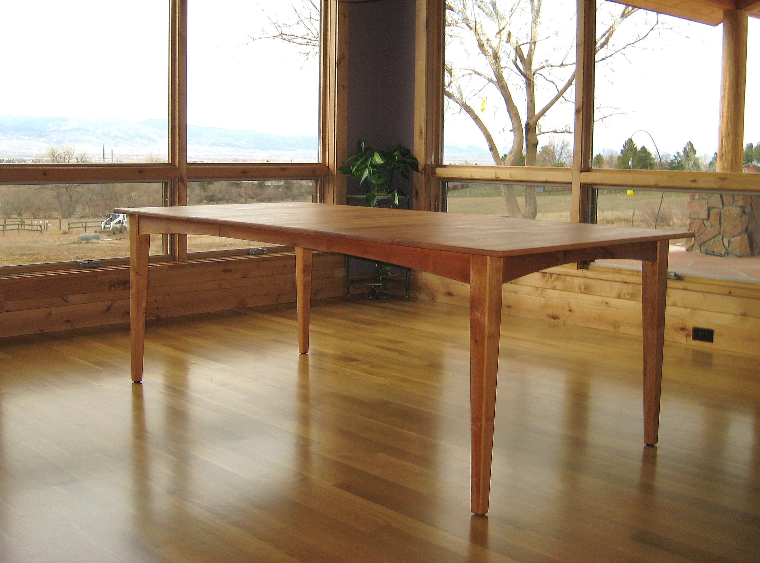 "Solid Cherry ""Prairie"" Table with Leaf"