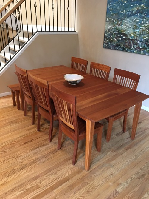 """Solid Cherry """"Prairie"""" Table"""