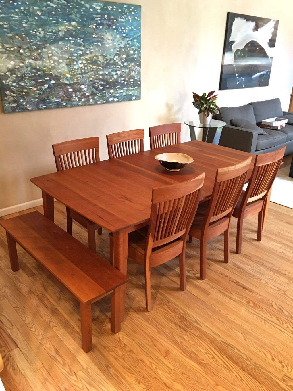 "Solid Cherry ""Prairie"" Table"