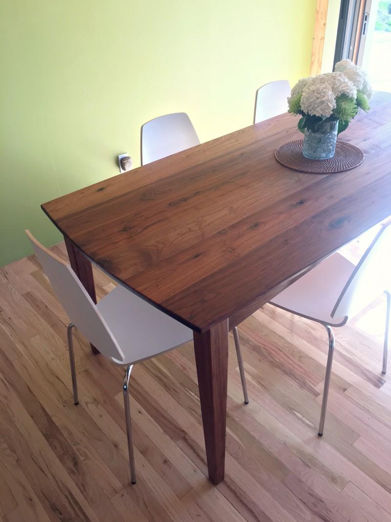 "Solid Walnut ""Prairie"" Boat-Shape Table"