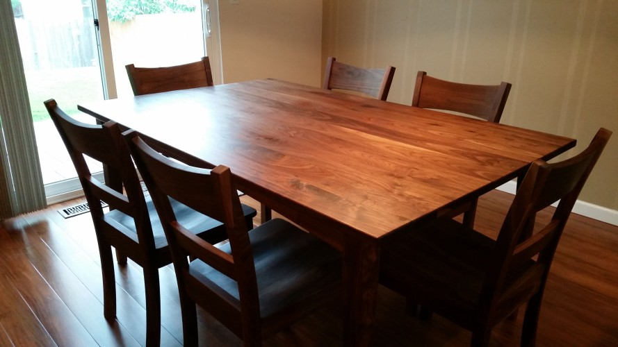 "Solid Walnut ""Prairie"" Table"