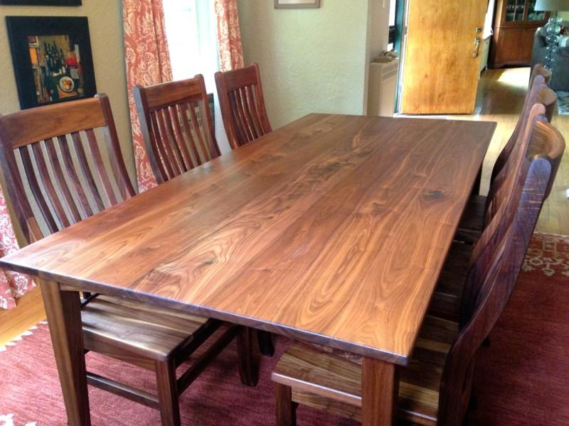 "Solid Walnut ""Prairie"" Table"