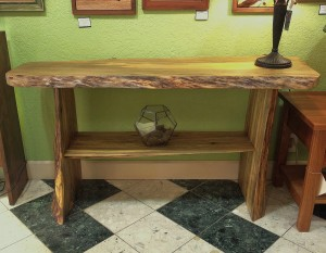 "LiveEdge Beetlekill ""Flatiron"" Console Table"