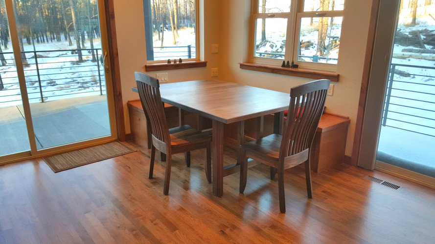 """Solid Walnut """"Mission"""" Trestle Table"""
