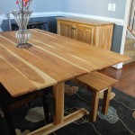 """Solid Hickory """"Shaker"""" Trestle Table"""
