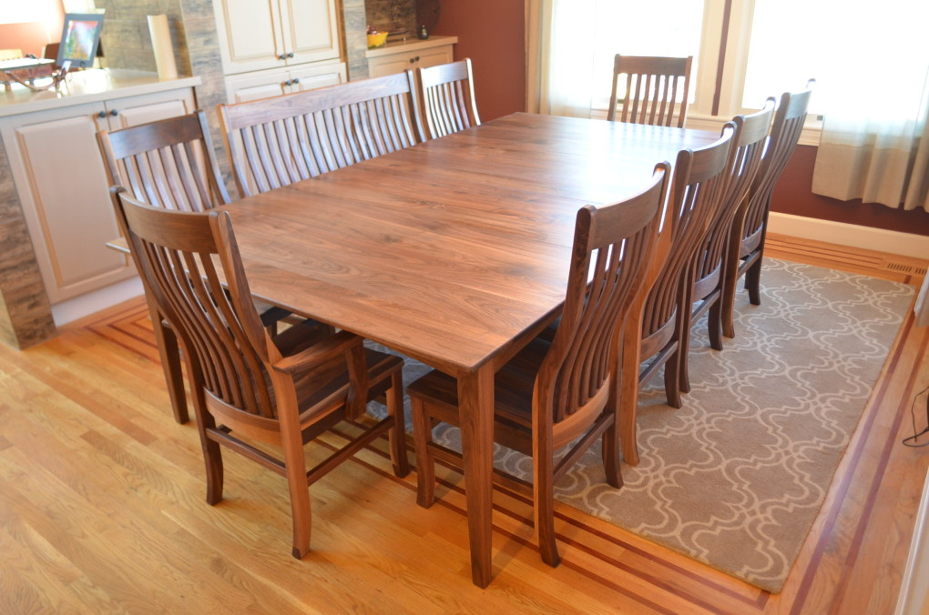 "Solid Walnut ""Prairie"" Table with Leaf"