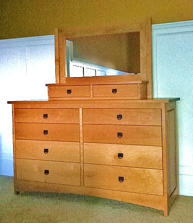 "Add a ""post"" mirror to any dresser"