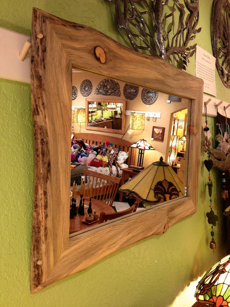 "Beetlekill ""LiveEdge"" Mirror (36""w x 24""h) available in any size"