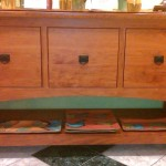 Solid Cherry Wide 3-File Cabinet