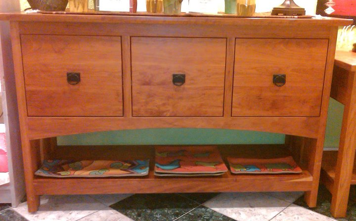 "Cherry ""Prairie"" 3-Drawer File Cabinet Console"