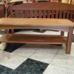 "Solid Walnut ""Prairie"" Coffee Table with Shelf"