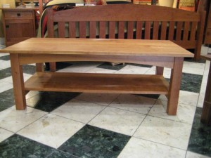"Solid Cherry ""Prairie"" Coffee Table"