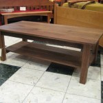 "Solid Walnut ""Mission"" Coffee Table with Shelf"